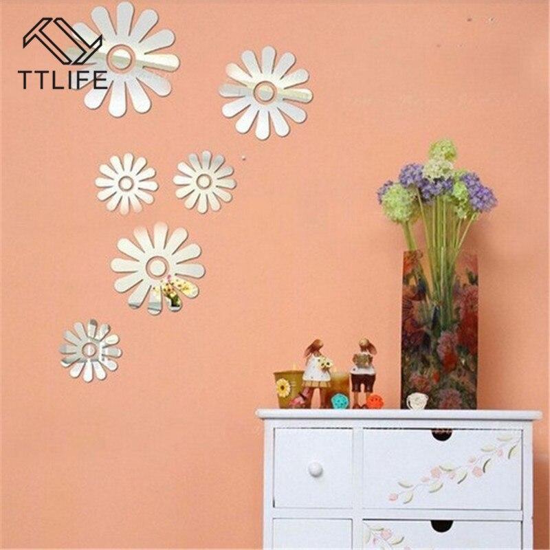 TTLIFE Creative Protection DIY Wall Decals Removable Decoration Modern Wallpaper Sticker Flower Patton Room Decor Ecofriendly