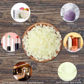Diy Aromatherapy Dried Flower Candle Ingredients Lipstick Beeswax Particles Beeswax Cosmetics Candles Lipstick White Ingred Q2Z0 image