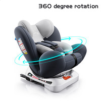 360° Adjustable Baby Kids Car Safety Seat 0 12 Years Portable thicker 1 installation Quakeproof Children lie chair