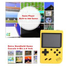 8 Bit 3.0 inch Retro Handheld Game Console Mini Pocket Handheld Game Player Built in 400 Classic Games best gift For Kid