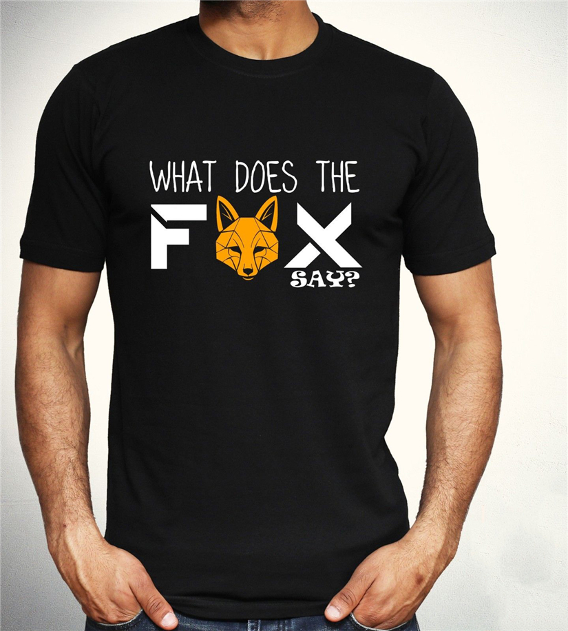 What Does The Fox Say T Shirt Funny <font><b>Viral</b></font> Meme Tee Cool Gift Top Mens S - Xxl Street Tee Shirt image
