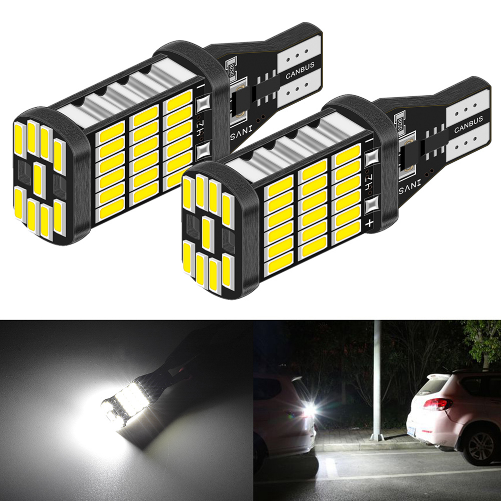 2pcs T15 <font><b>led</b></font> Canbus 921 W16W Car Backup Reverse Bulb Lights for <font><b>BMW</b></font> E46 E39 E90 E60 <font><b>E36</b></font> F30 F10 E30 E34 X5 E53 M M3 M4 Z4 Z3 image