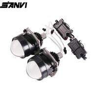Sanvi Newest 2.5 inch MINI Auto Bi LED Projector lens Headlight 35W 5500k Car Auto LED Headlamp H4 H7 9005 9005 Projector Light