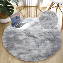 Thick Rug Mat Carpet For Living Room Plush Bedroom Fluffy Round Bed Room Carpets Soft Rugs Anti-Slip Floor Kids Room Home Decor