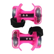 Roller-Skating-Shoes Flashing-Roller Dual-Wheels Small with Light Pulley Whirlwind Adjustable