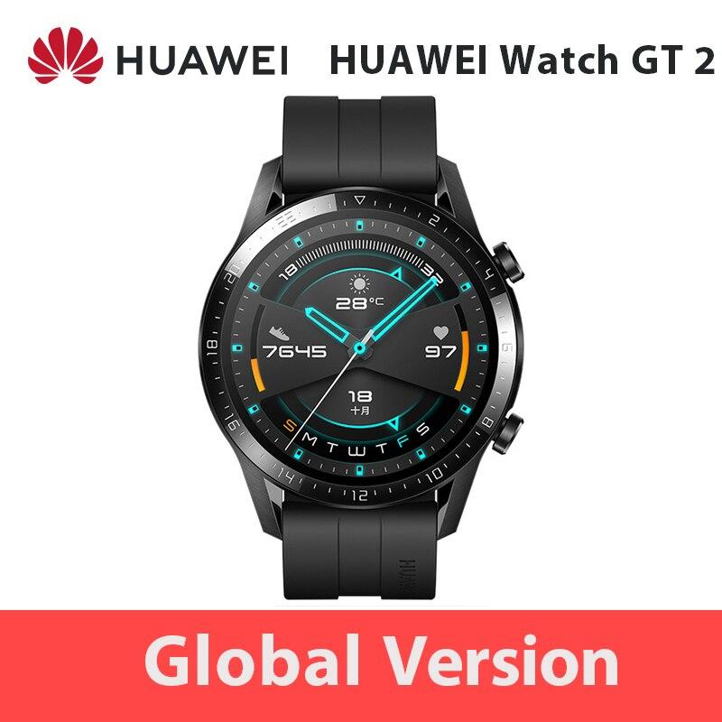 46mm Globale Version HUAWEI Uhr GT 2 GT2 GPS 1.39 AMOLED Wasserdichte Telefon Intelligente Call Herz Rate Tracker für Android iOS