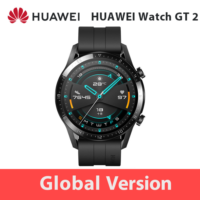 Global Version <font><b>HUAWEI</b></font> <font><b>Watch</b></font> <font><b>GT</b></font> <font><b>2</b></font> GT2 GPS 14 Days Working Phone Smart Call 1.39' AMOLED Waterproof Heart Rate Tracker Android iOS image