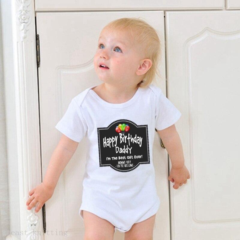 Hy Birthday Daddy Onesie Uni Baby