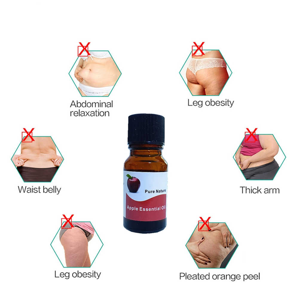 Apple Gewichtsverlies Essentiële Olie Voor Vetverbranding Afslanken Detox Crème Snelle Krachtige Anti Cellulite Gezond Gewicht Verminderen 10 Ml