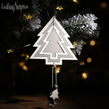 Kids Christmas Ornaments Wooden Pendants Gifts DIY Wood Crafts Decor Tree Supplies