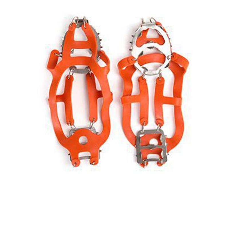 Outdoor Hiking Climbing Antiskid Crampons Winter Walk 18 Teeth Ice Fishing Snowshoe Manganese Steel Slip Shoe Covers Spike Shoe