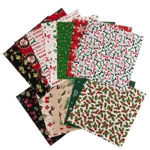 25*25Cm/Pcs Christmas Patchwork Fabric Print Quilting Fabrics For DIY Needlework Handmade Cotton Tissue TJ1146