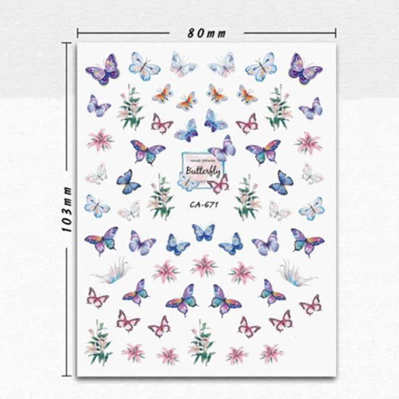 Güzel kelebek fantezi 3D geri tutkal tırnak çıkartma tırnak etiket tırnak dekorasyon tırnak tasarım tırnak aracı tırnak süsleme
