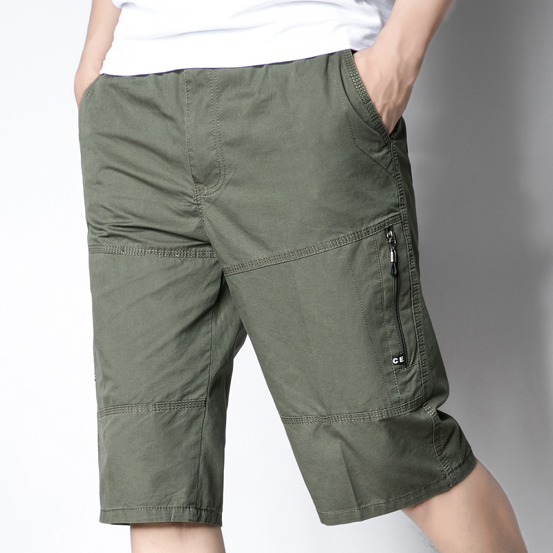 2019 Summer New Style MEN'S Shorts Men's Casual Capris Middle Aged And Elderly People Daddy Clothes Loose-Fit Pure Cotton Shorts