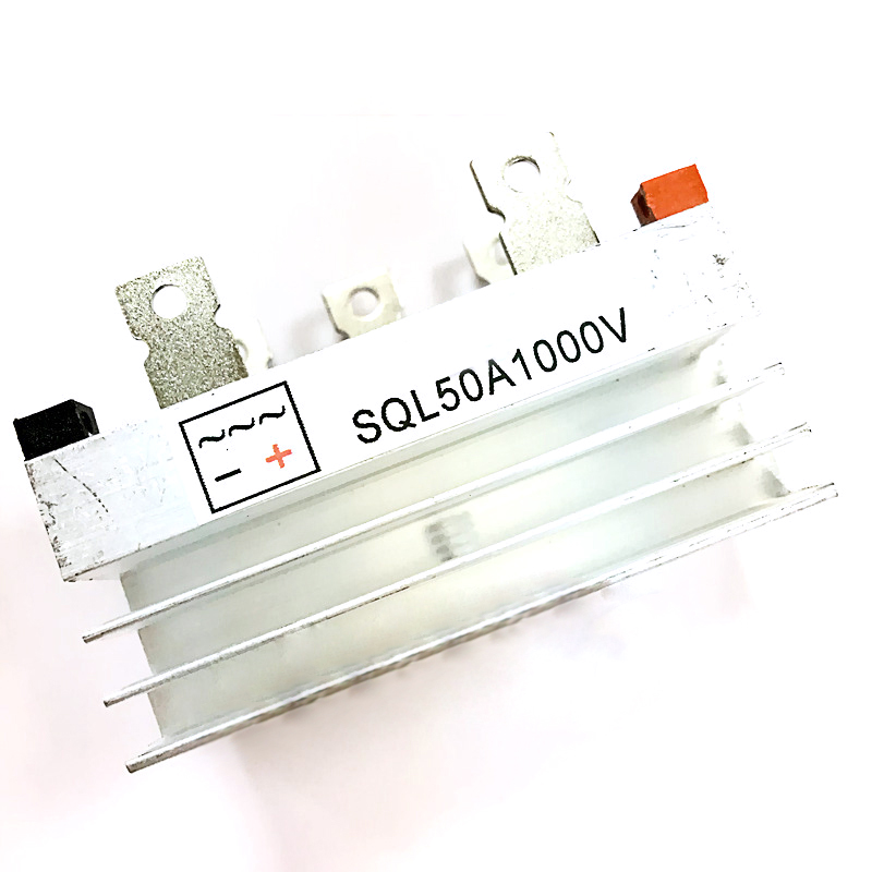 Bridge Rectifier Three/3 Phase Diode 50A Amp <font><b>1000V</b></font> <font><b>SQL50A</b></font> With Heatsink image