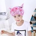 Двухслойные Детские Мультяшные водонепроницаемые шапочки для душа, шапочки для купания, эластичная шапочка для душа, милые детские товары ...