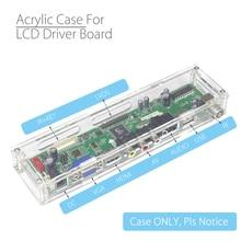 Universal transparente escudo para placa de controle lcd acrílico caso caixa armazenamento para v29 v56 v53 skr 8503 analógico controlador sinal
