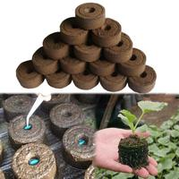 30mm Garden Flowers Planting The Soil Block Round Peat Pellets Seed Starting Plugs Pallet SeedlingSoil Block Nursery Soil