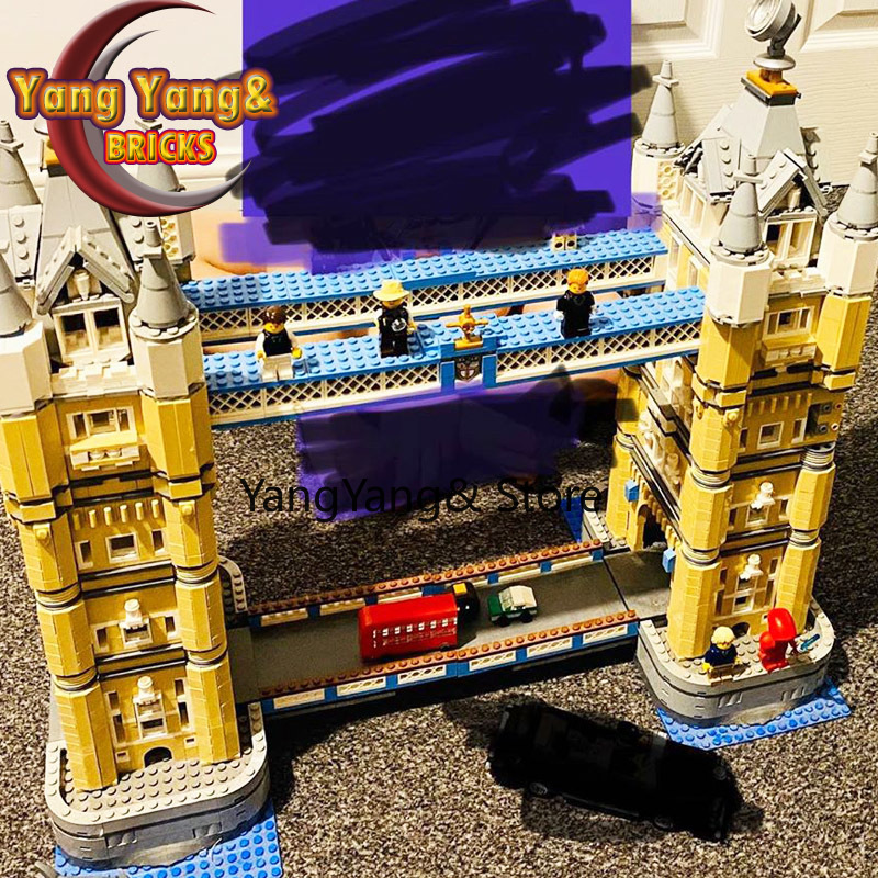 In stock 4287 Pcs high-level model Street view Tower Bridge 10214 17004 30001 88004 Kids Toys Gifts Building Blocks Bricks