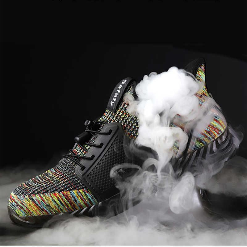 עבודת בטיחות נעלי 2019 ספורט קלים במיוחד אור רך תחתון גברים נשים ללבוש התנגדות אנטי לנפץ פלדה עבודת טו