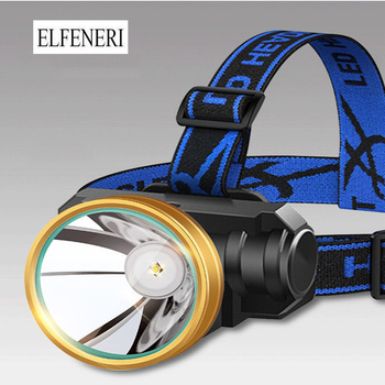 Super Bright  LED Headlights and Head-mounted Flashlights Outdoor Long-range Rechargeable Night Fishing