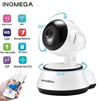 INQMEGA กล้อง IP ไร้สาย 720P การเฝ้าระวังความปลอดภัยกล้องเครือข่ายกล้องวงจรปิด Night Vision Two Way Audio Baby Monitor ICSEE
