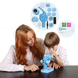 New Microscope Kit Lab LED  Home School Educational DIY Toy Gift Biological Microscope For Kids Child