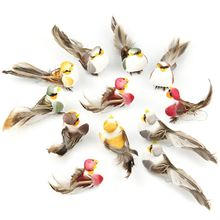 12 Pcs Realistic Plastic Birds Artificial Foam Feather Simulation Bird Home Garden Wedding Party Decoration