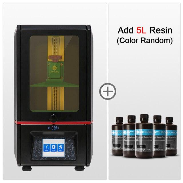 Anycubique Photon SLA 3D imprimante UV LCD résine assemblé 2K écran grande taille hors ligne impression Impresora 3d Drucker 3D imprimante Kit
