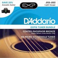 Exp16 ct15 tuner in the resonator hole + set of strings D'Addario