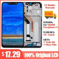 100% оригинал для Xiaomi Pocophone F1 ЖК-дисплей  кодирующий преобразователь сенсорного экрана в сборе для Xiaomi Pocophone F1 Замена ЖК-экрана