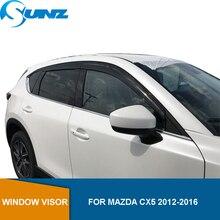 Yan pencere saptırıcı Mazda CX5 2012 2013 2014 2015 2016 siyah pencere siperliği rüzgar siperliği güneş yağmur saptırıcı muhafızları SUNZ