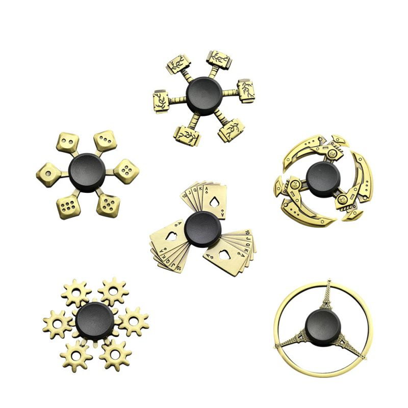 Zinc Alloy Material Funny Bronze Colors Fidget Spinners Stress Relief Spin For Adult Kid Office People Anxiety Removal Toys