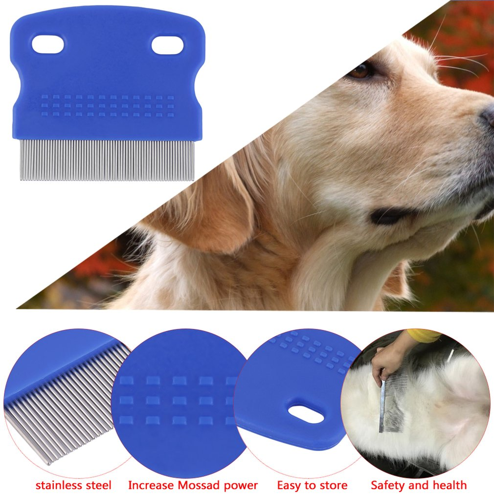stainless steel needle;random Candybarbar Super Deal Dog Flea Comb Steel Brush Hair Comb Dog Grooming Trimmer Cute Pet Cat Dog Comb ABS