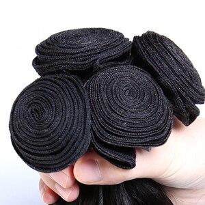 Image 5 - Ms włosy kota brazylijski proste włosy 4 zestawy oferty 100% ludzkie włosy wyplata rozszerzenia 4 sztuk/partia pasma włosów typu remy mogą być barwione