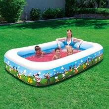 Популярный надувной бассейн утолщенный семейный из ПВХ для взрослых