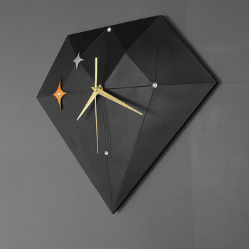 Nordic Geometric Luxury Wall Clock Silent Creative Living Room Large Kitchen Wall Clocks Yellow Relogio Parede Home Decor ZB4520