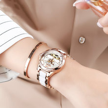 Женские часы полностью автоматические механические с керамическим
