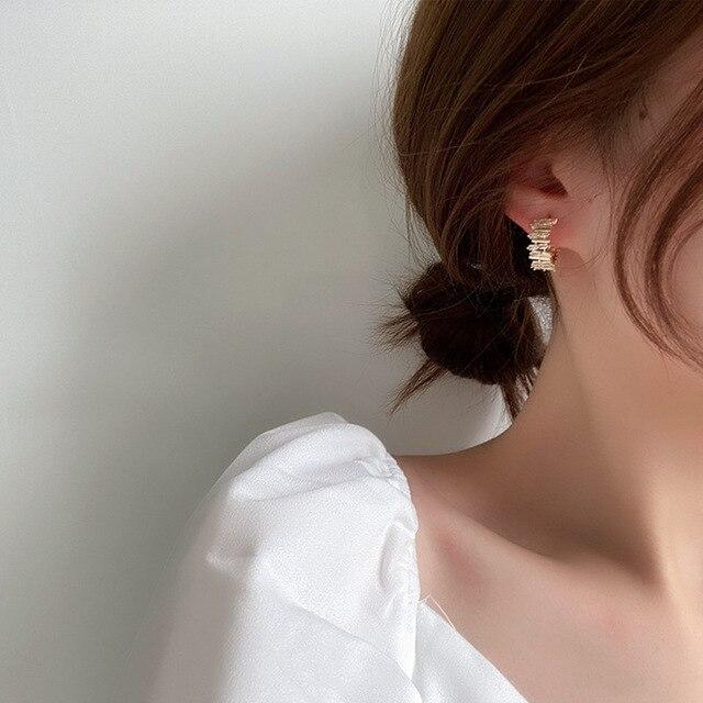 2021 New Hot Selling Zircon Earrings Crystal Earrings 6