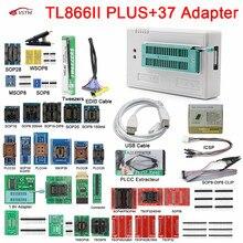 Original Newest Minipro TL866II Plus USB Universal programmer + 37pcs IC Adapters High speed TL866II PLUS English manual
