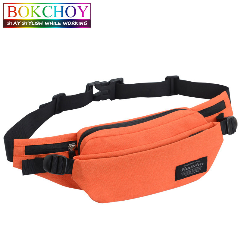 Multi-pockets Leisure Belt Bag Business Waist Packs Anti-theft Portable Men Women Waist Bag