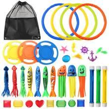 Conjunto de brinquedos de mergulho divertidos, 36 peças, subaquático, para meninos e meninas, jogos de verão, natação festa na piscina