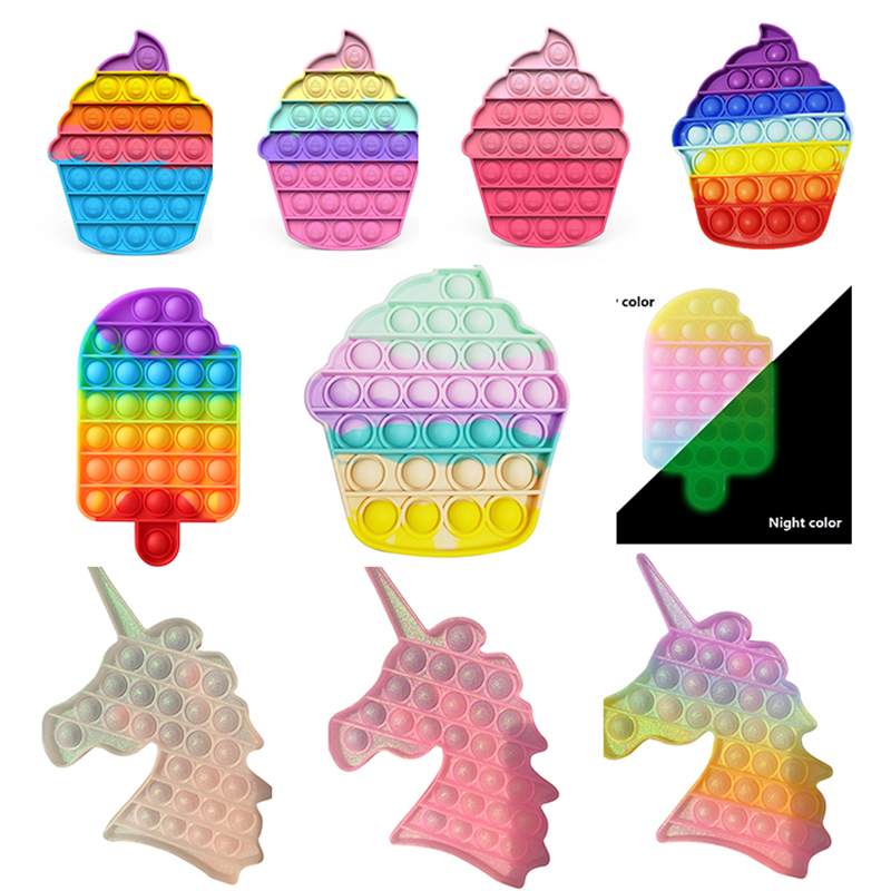Push-Pops Blase Sensorischen Spielzeug Autismus Spezielle Bedürfnisse Stressabbau Hilft Entlasten Stress und Erhöhen Fokus Weichen Squeeze Kid Spielzeug