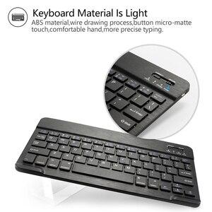 Image 2 - Bluetoothキーボードipad 7th世代 (2019)/新型ipad 8th世代 (2020) 10.2インチ 着脱式のbluetoothキーボード保護ケース