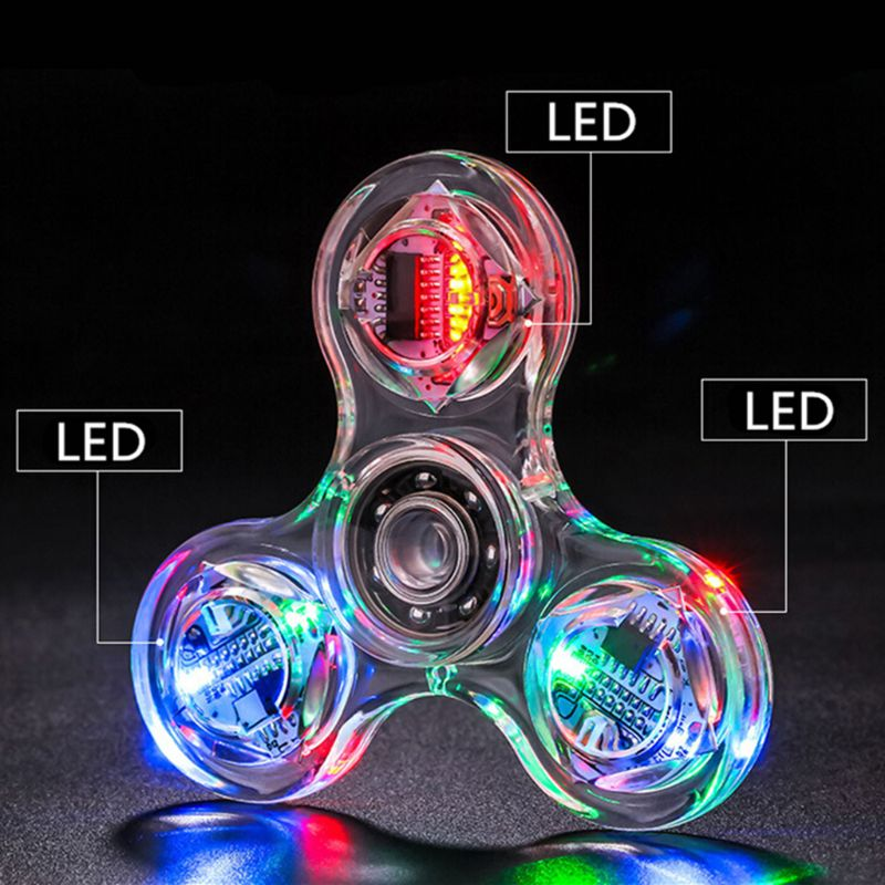 Relief-Toys Spinners Hand-Top Edc Stress Glow-In-Dark Luminous LED Changes Multiple Novelty img3