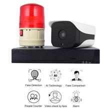 얼굴 인식 카메라 시스템 h.265 4ch 1080 p poe 보안 카메라 시스템 소매 보안 경보 시스템 사람들 카운터
