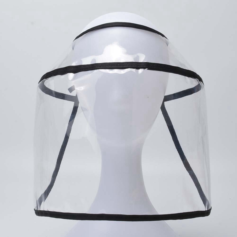 Multi-function Transparent Protective Hat Safety Cap Dustproof Windproof Mondkapjes Removable Anti-fog Saliva Face Cover Shield