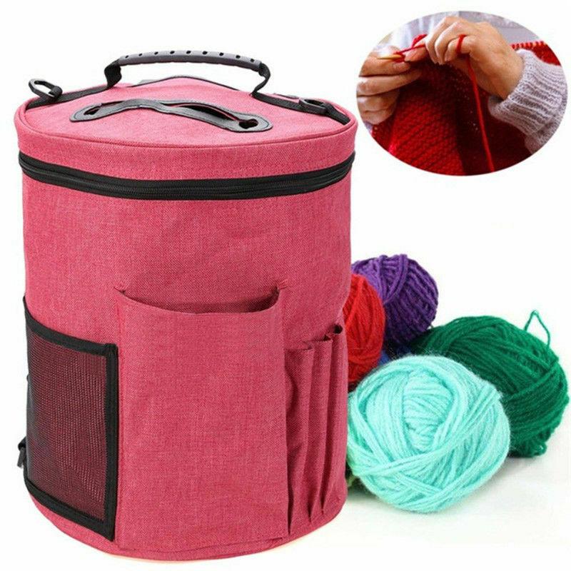 Simple Large Knitting Yarn Storage Bags Travel Holder Organizer Basket Wool Crochet Needle Tote Women Yarn Needle Thread Storage