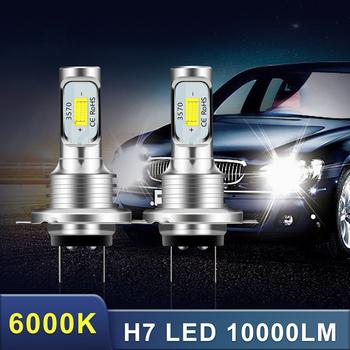 2 sztuk 10000LM 6000K 80W H7 CSP 3570 chipów LED zestaw reflektorów Hi lub żarówki z wiązką światła biały IP68 wodoodporna Canbus reflektorów światła przeciwmgielne tanie i dobre opinie CN (pochodzenie) Do światła dziennego 10000LM Pair Brak 12 V 24 V WHITE Uniwersalny H7 LED HeadLights 80W 1 Pair Efficient Cooling System Fast Heat Dissipation