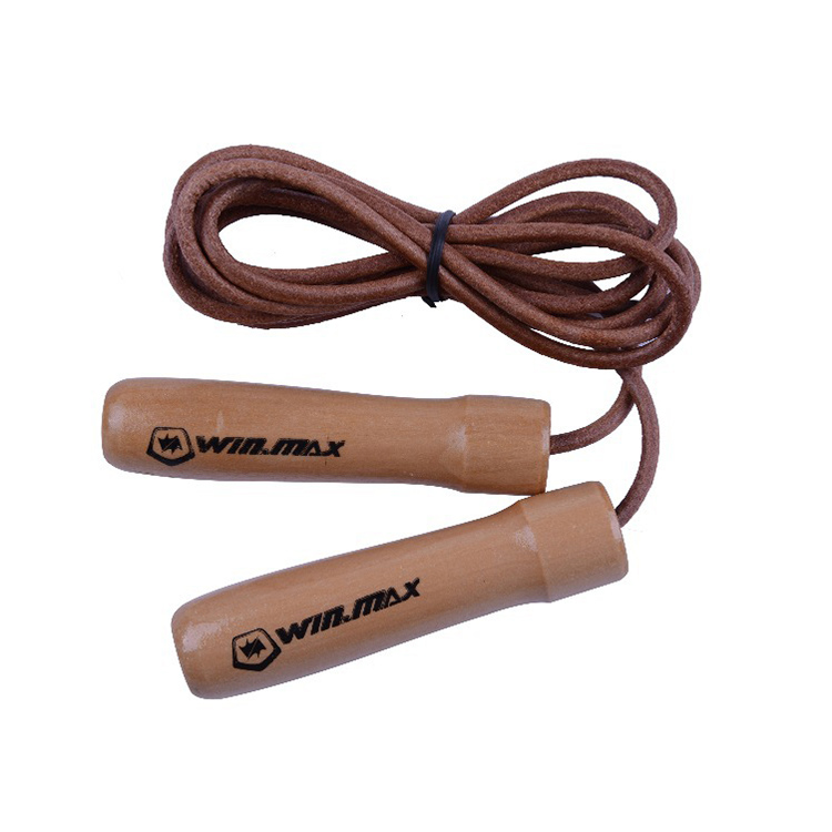 Leather Skipping Rope Speed Jump Fitness Equipment Adjustable Gym Workout